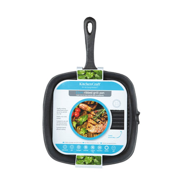 KitchenCraft Cast Iron 23cm Square Grill Pan