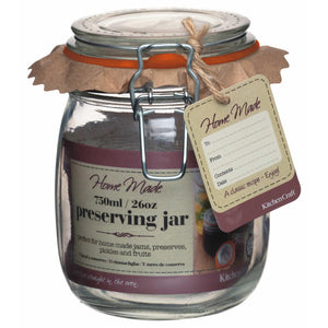 Kitchen Craft Home Made Glass 750ml Preserving Jar