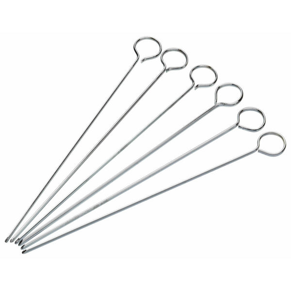 KitchenCraft Pack of Six 15cm Flat Sided Skewers