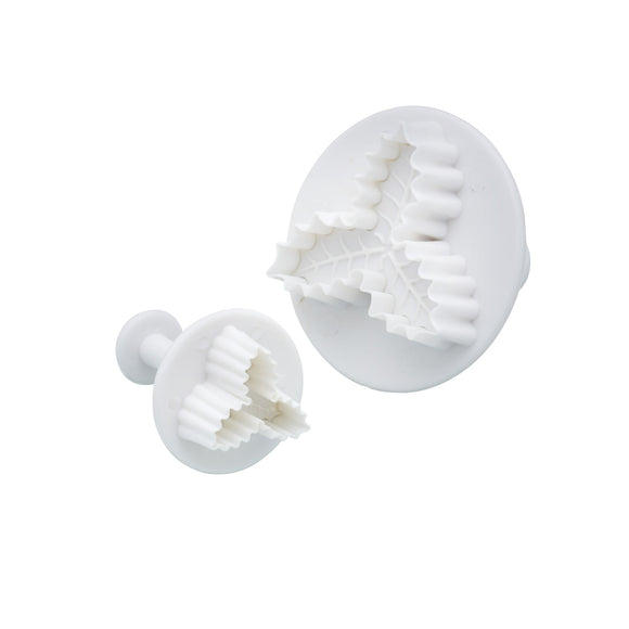 Sweetly Does It Set of 2 Holly Fondant Plunger Cutters