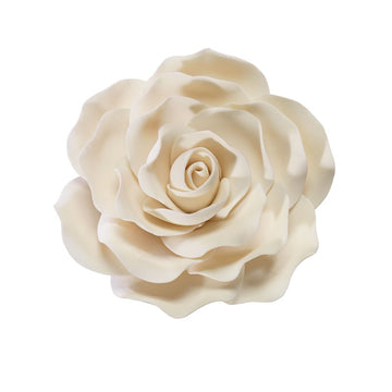 Gumpaste Rose Ivory 4'' - Floral Decoration