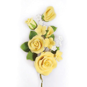 Gum Paste Sugar Spray Yellow Rose 145mm