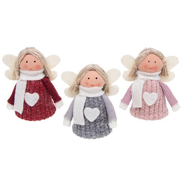 Standing Angel / Fairy Wooly Jumper Christmas Decoration