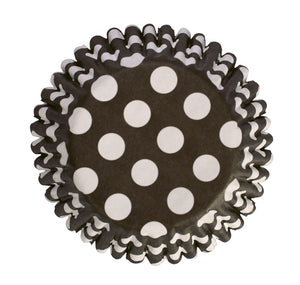 Black Spot Printed Cupcake Baking Cases