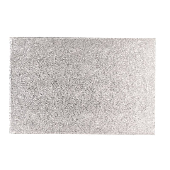 8'' x 10'' (254 x 203mm) Hardboard Rectangle Turn Edge Card Silver Fern (3mm thick)
