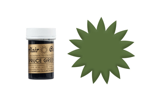 Sugarflair Concentrated Paste Colours - Spuce Green 25g