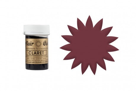 Sugarflair Paste Colour - Claret - 25g Concentrated Edible Food Colouring