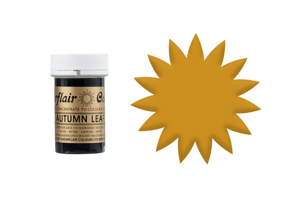 Sugarflair Concentrated Paste Colours - Autumn Leaf 25g