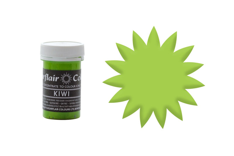 Sugarflair Paste Colours - Kiwi Green - 25g