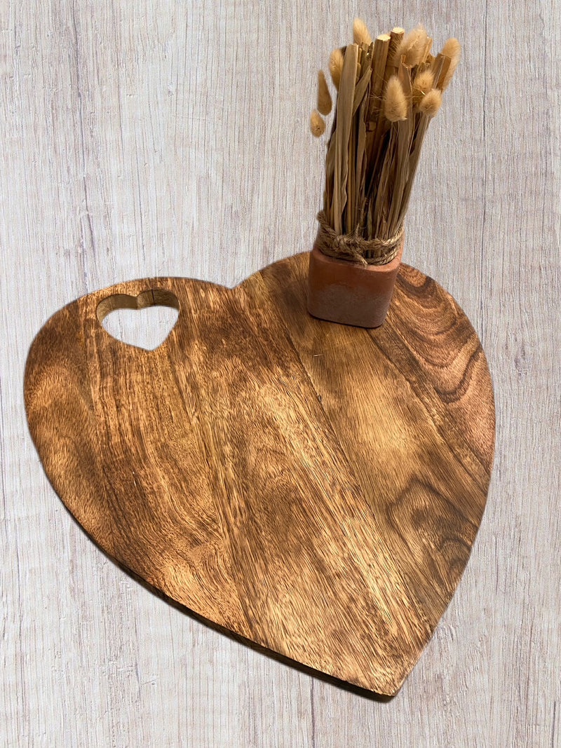 Large Heart Wooden Chopping / Display Board