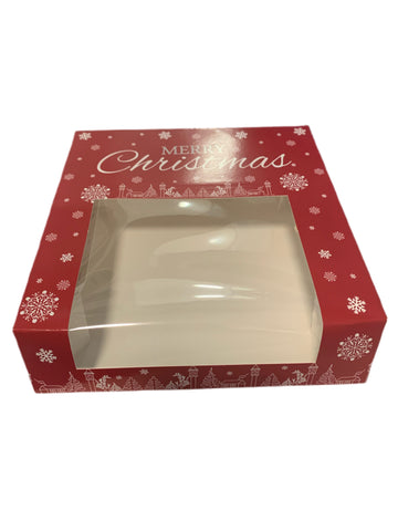 Christmas Treat Box with window - Perfect for Mice Pies, Brownies, Cookies & more