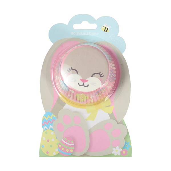 Easter Bunny Baking Cupcake Cases - 50 pieces