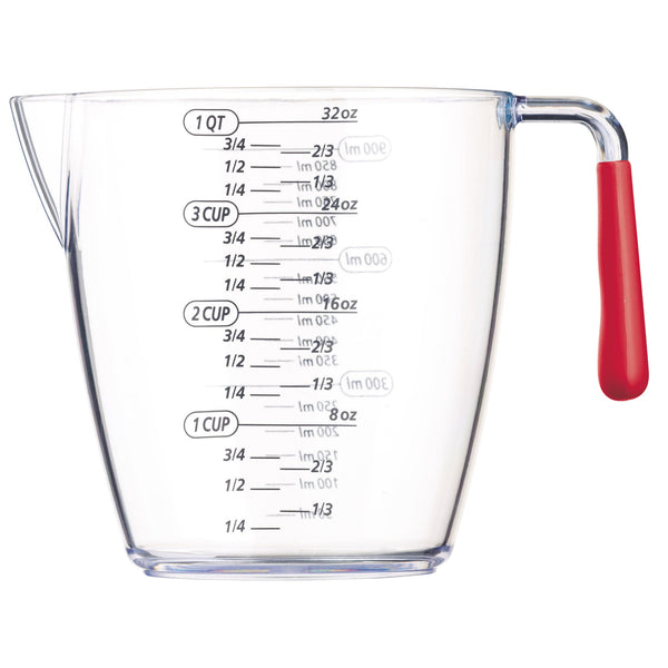 Colourworks Red Acrylic Measuring Jug 900ml