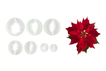 FMM Poinsettia Cutters - Set of 7 Cutters