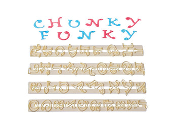 FMM Chunky Funky Alphabet and Number Tappit Cutter Set