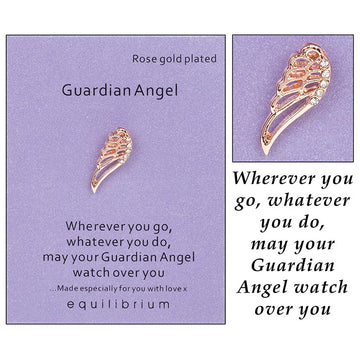 Equilibrium Sentiment Pin Brooch Guardian Angel Wings