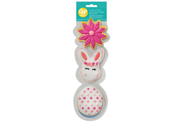 Wilton Cookie Cutter Easter Set - Bunny, Egg & Flower