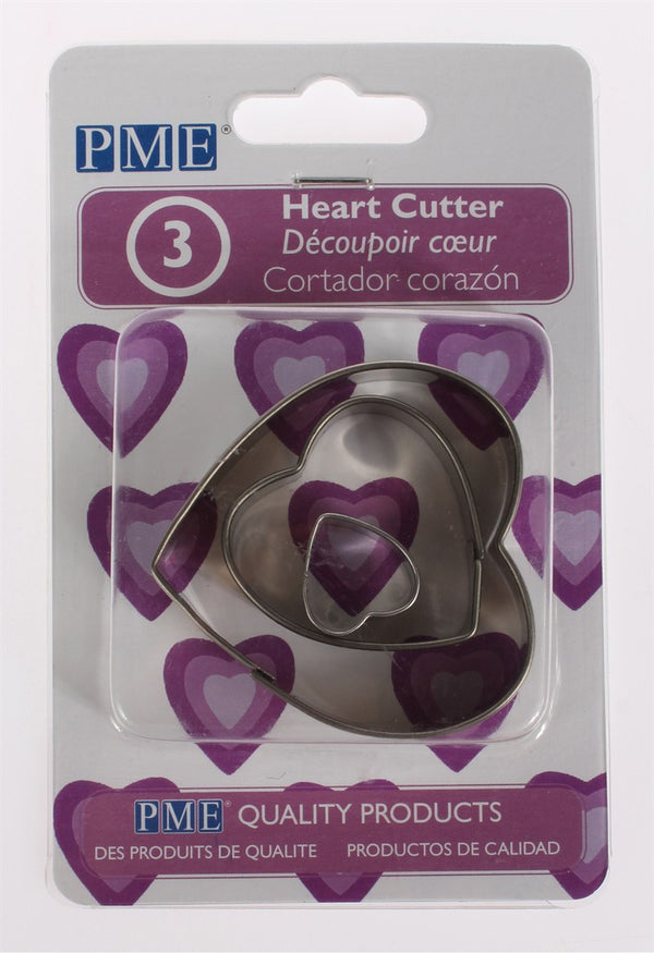 PME Heart Metal Cutter Set 3 piece