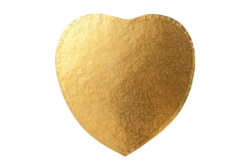 "8"" Heart 12mm Cake Drum Board - Gold"