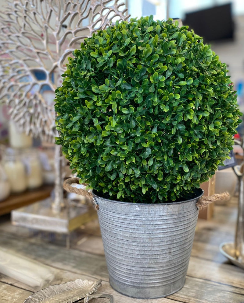 Artificial Topiary Potted Buxus Tree Plant