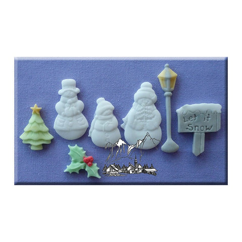 Alphabet Moulds - Let It Snow Christmas Sugarcraft Mould