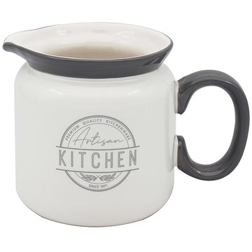 Artisan Kitchen Grey & White Jug