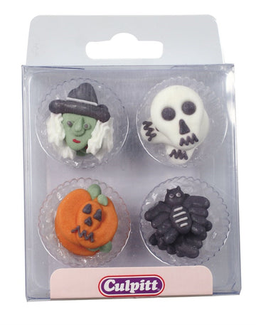 Assorted Halloween Edible Sugar Pipings pack of 12
