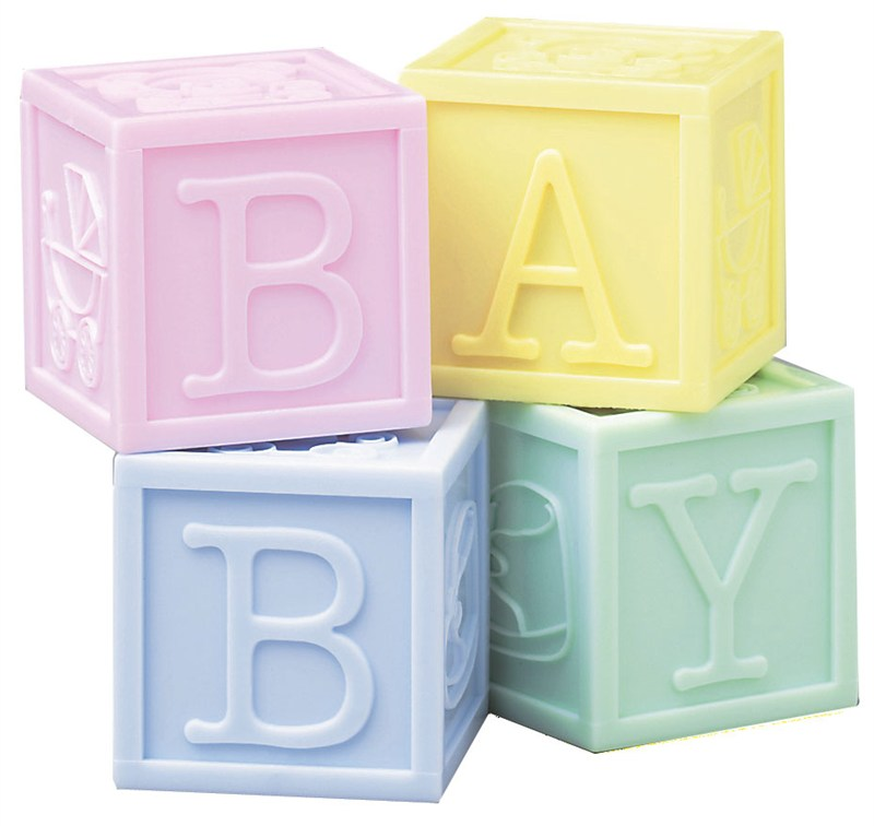 Baby Blocks - Set of 4 Cake Topper