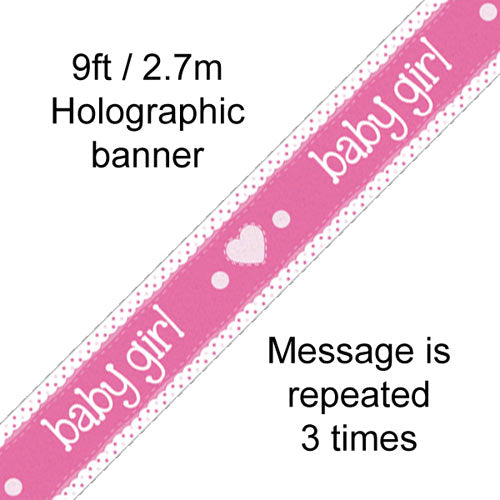 Baby Girl Pink Banner - 2.7m
