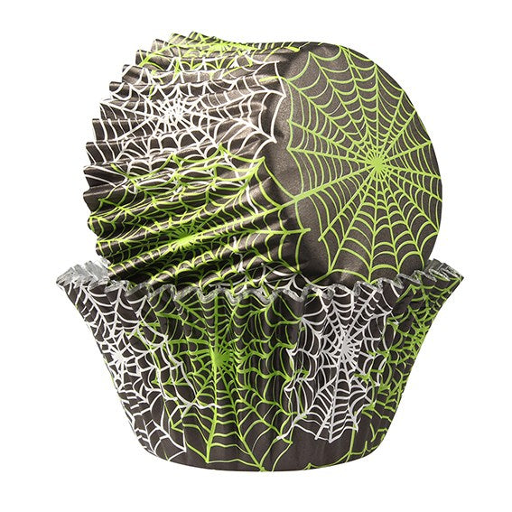 Baked With Love Foil Lined Spiderweb Halloween Cupcake Baking Cases