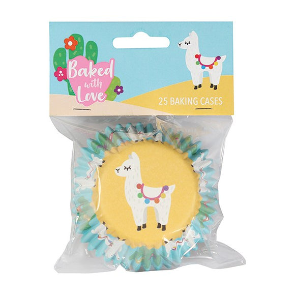Baked with Love Llama Foil Cupcake Baking Cases