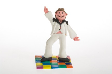 Claydough Dancing Dad / Groovy Man Figure Cake Topper