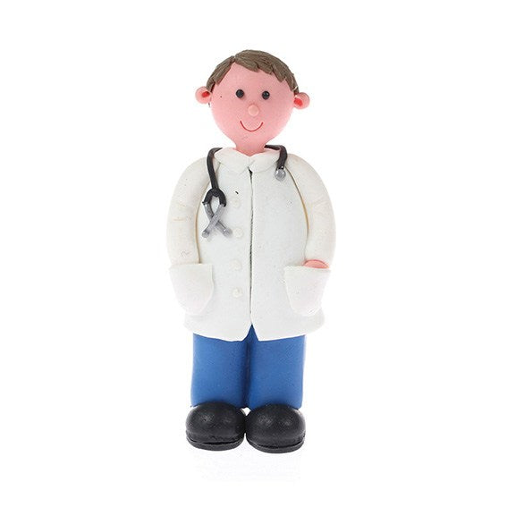 Claydough Doctor or Male Nurse Cake Topper Figure