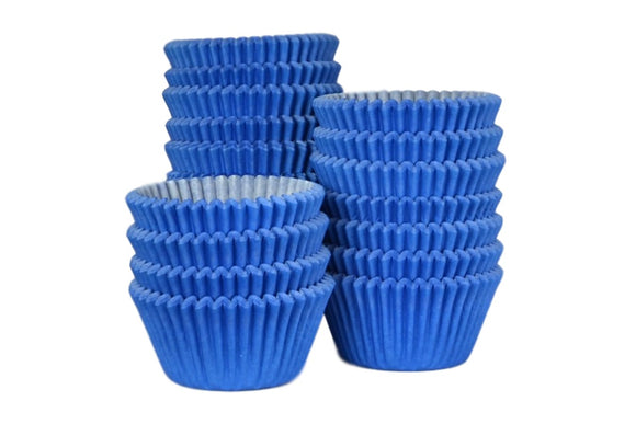 CUPCAKE / MUFFIN BAKING CASES SLEEVE OF 500 - BLUE