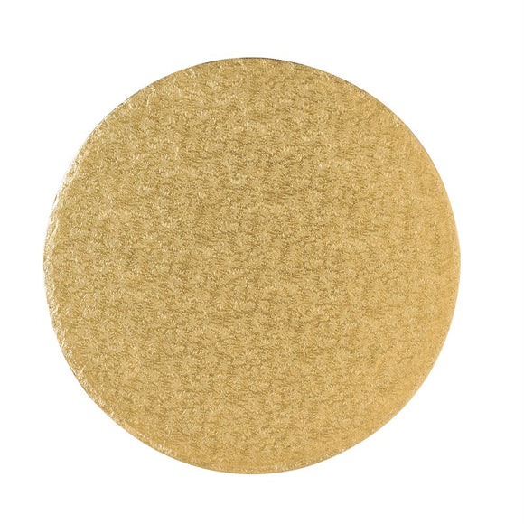 Round Cake Board Drum Gold 8