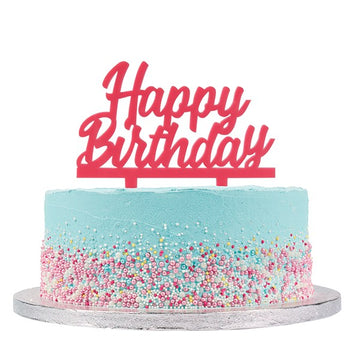 Cake Star Happy Birthday Pink Cake Topper Motto Pic