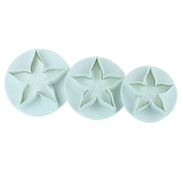 Cake Star Plunger Cutter Set Calyx - 3 piece