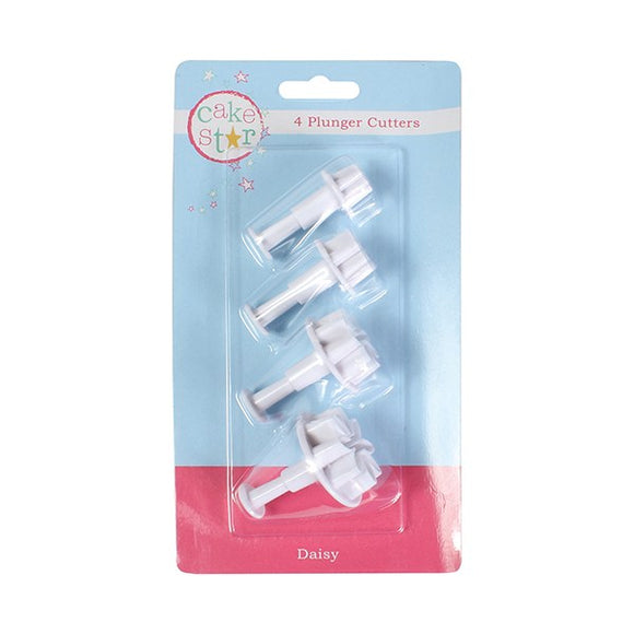 Cake Star Plunger Cutter Daisy Flower 4 piece Set