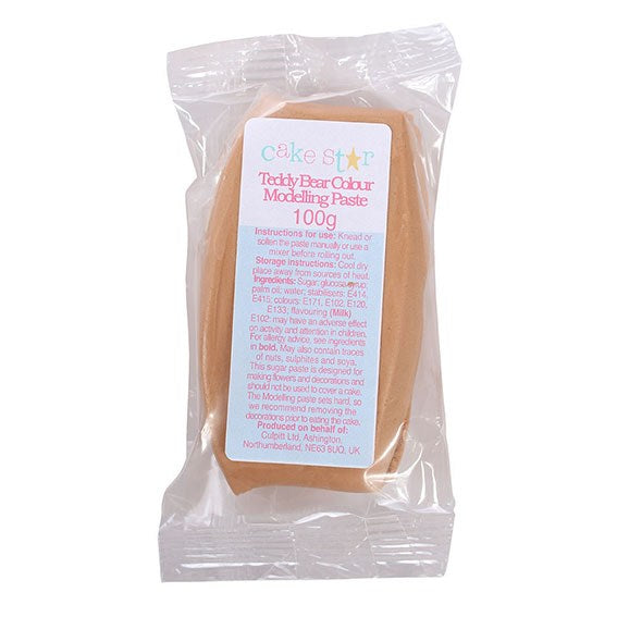 Cake Star Teddy Bear Brown Modelling Paste 100g