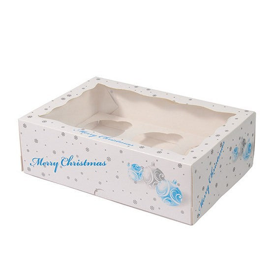 Christmas Bauble 6 Count Christmas Cupcake Box
