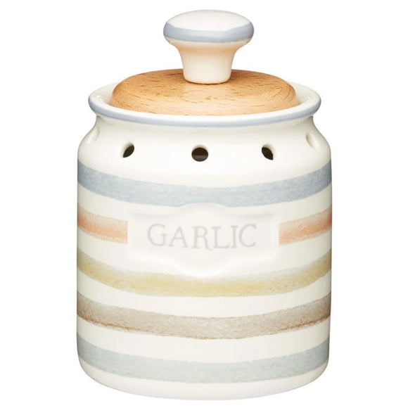Classic Collection Vintage-Style Ceramic Garlic Keeper Storage Pot