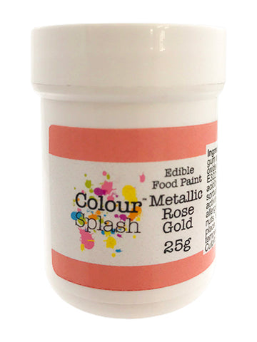 Colour Splash Edible Paint - Rose Gold