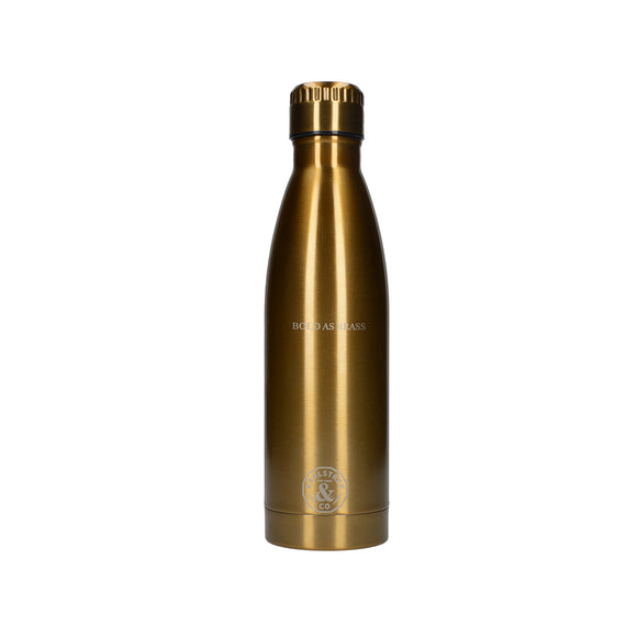 Creative Tops Earlstree & Co 500ml Bold as Brass Stainless Steel Water Bottle