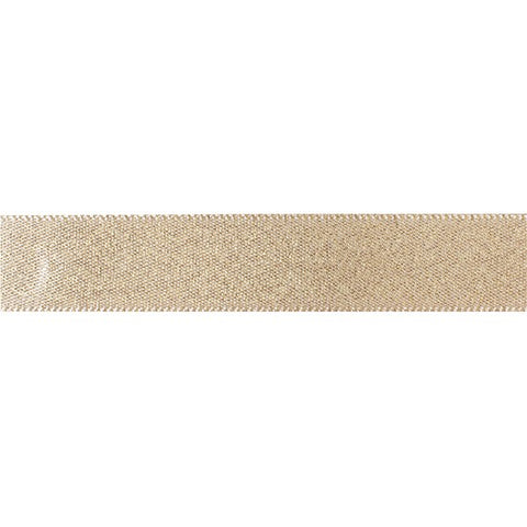 Double Faced Satin Ribbon - Gold Glitter 15mm