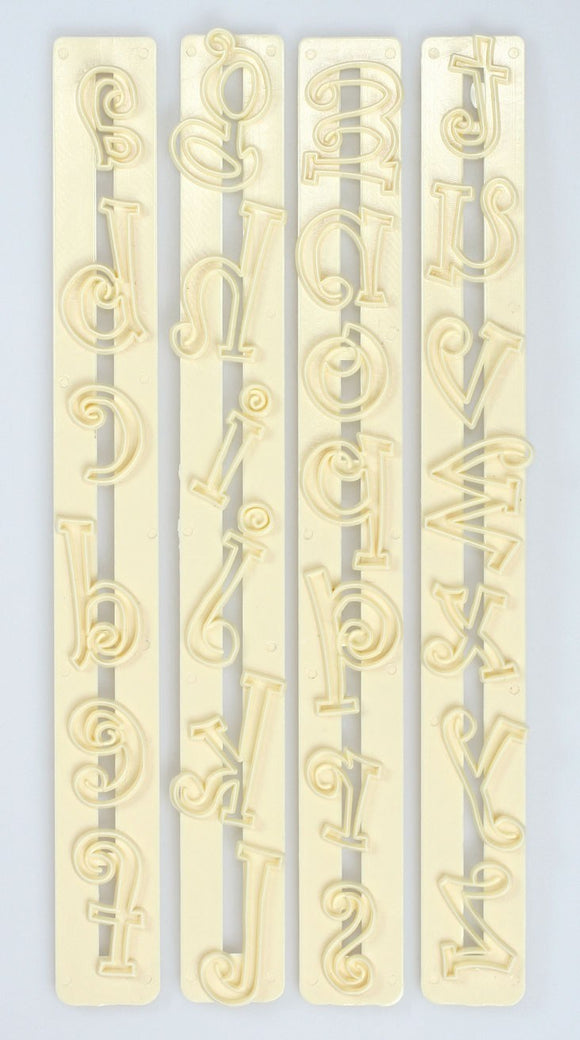 FMM Lower Case Funky Letter Alphabet Tappit Cutter Set