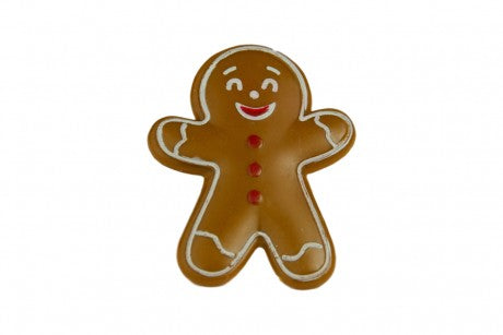 Gingerbread Man Ring - Plastic Cupcake Topper Decoration