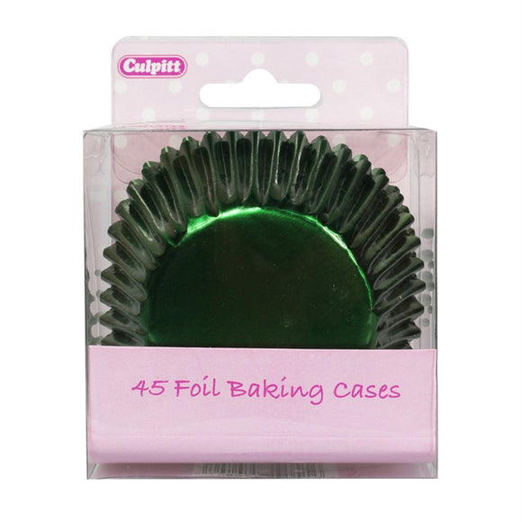 Green Foil Cupcake Baking Cases Pack of 45