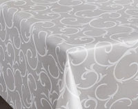 Grey Swirl PVC Wipe Clean Vinyl Table Covering / Table Cloth