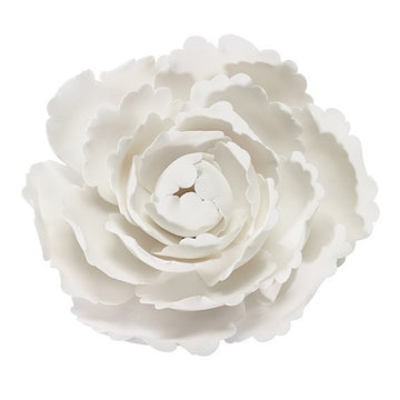 Gumpaste White Peony 4'' Beautiful Cake Flower