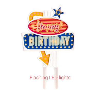 Happy Birthday Flashing Cake Topper